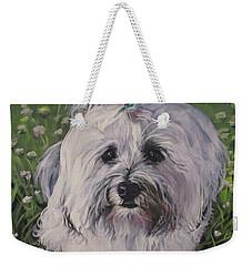 Sweet Havanese Dog Weekender Tote Bag