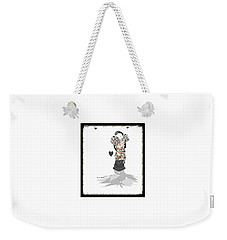 Weekender Tote Bag featuring the mixed media Sweet Lady 7 by Ann Calvo
