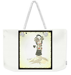 Weekender Tote Bag featuring the mixed media Sweet Lady 8 by Ann Calvo