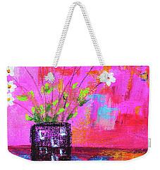 Sweet Little Flower Vase Weekender Tote Bag by Haleh Mahbod