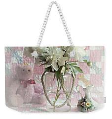 Sweet Memories Of Four Generations Weekender Tote Bag by Sherry Hallemeier