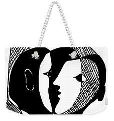 Weekender Tote Bag featuring the digital art Sweet Nothings by Vagabond Folk Art - Virginia Vivier