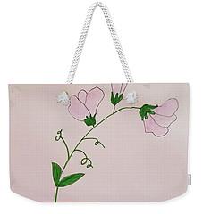 Sweet Pea Weekender Tote Bag