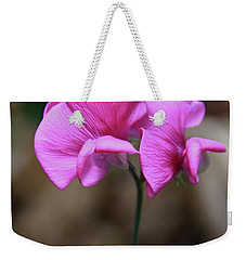 Weekender Tote Bag featuring the photograph Sweet Pea Of Strawberry Creek by Suzanne Oesterling
