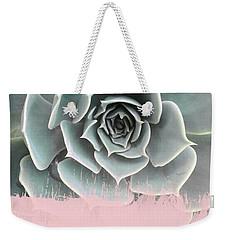 Sweet Pink Paint On Succulent Weekender Tote Bag by Emanuela Carratoni