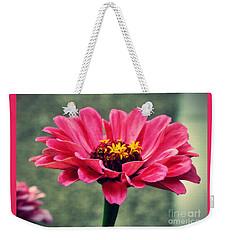Sweet Pink Zinnia Weekender Tote Bag