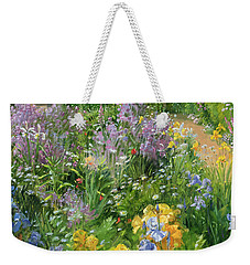 Sweet Rocket - Foxgloves And Irises Weekender Tote Bag