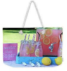 Sweeter Than Sugar Pink Lemonade Weekender Tote Bag