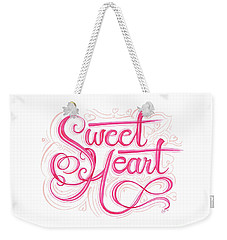 Weekender Tote Bag featuring the drawing Sweetheart by Cindy Garber Iverson