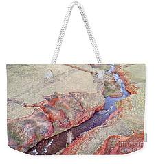 swift creek at  Colorado foothills - aerial view Weekender Tote Bag