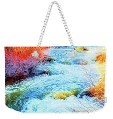 Weekender Tote Bag featuring the photograph Swift by Nancy Marie Ricketts