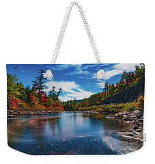 Weekender Tote Bag featuring the photograph Swift River Swirls by Chris Lord