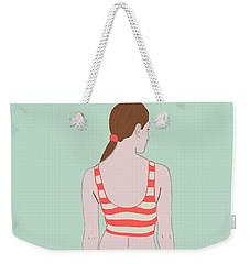 Swim Weekender Tote Bag by Nicole Wilson