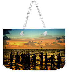 Swimmers Sunrise Weekender Tote Bag