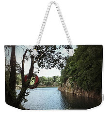 Weekender Tote Bag featuring the photograph Swimming At The Quarry by Karen Stahlros
