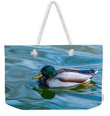 Swimming Duck Weekender Tote Bag