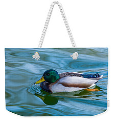 Swimming Duck Weekender Tote Bag