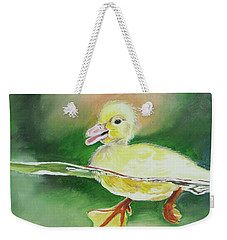 Swimming Duckling Weekender Tote Bag
