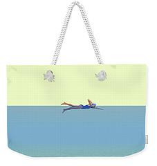 Swimming Girl Weekender Tote Bag