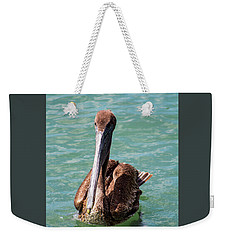 Swimming Pelican Weekender Tote Bag