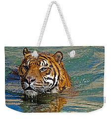 Swimming Tiger Weekender Tote Bag