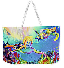 Swimming With Turtles Weekender Tote Bag by Jann Paxton