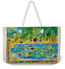 Swimming With Waterlilies And Fish Weekender Tote Bag