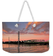 Swing Bridge At Sunset, Topsail Island, North Carolina Weekender Tote Bag
