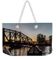 Swing Bridge Sunset Weekender Tote Bag