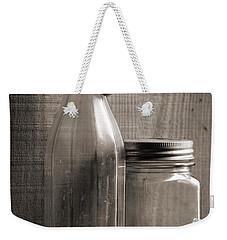 Jar And Bottle  Weekender Tote Bag by Sandra Church