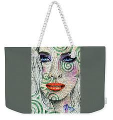 Swirl Girl Weekender Tote Bag by P J Lewis