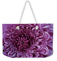 Weekender Tote Bag featuring the photograph Purple Mum Abstract by Glenn Gordon