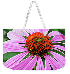 Swirling Purple Cone Flower 3576 H_2 Weekender Tote Bag