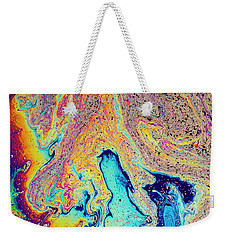 Weekender Tote Bag featuring the photograph Swirling Soap by Jean Noren