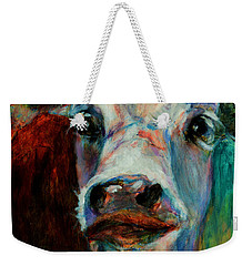 Swiss Cow - 1 Weekender Tote Bag by David  Van Hulst
