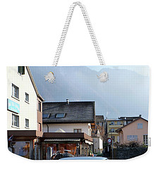 Weekender Tote Bag featuring the photograph Swiss Mini by Christin Brodie