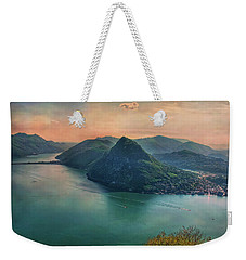 Weekender Tote Bag featuring the photograph Swiss Rio by Hanny Heim