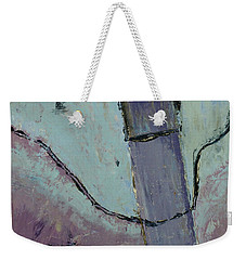 Weekender Tote Bag featuring the painting Swiss Roof by Paul McKey