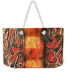 Weekender Tote Bag featuring the mixed media Switch by Angela Stout