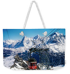 Switzerland Alps Schilthorn Bahn Cable Car  Weekender Tote Bag