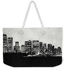 Sydney City Skyline With Opera House Weekender Tote Bag by World Art Prints And Designs