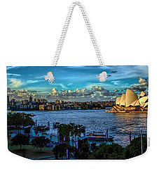 Sydney Harbor And Opera House Weekender Tote Bag by Diana Mary Sharpton