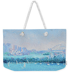 Sydney Harbour And The Opera House Weekender Tote Bag by Jan Matson