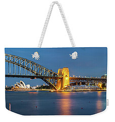 Sydney Harbour At Dusk Weekender Tote Bag