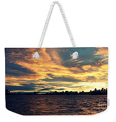 Sydney Harbour At Sunset Weekender Tote Bag by Leanne Seymour