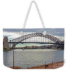 Weekender Tote Bag featuring the photograph Sydney Harbour Bridge by Elaine Teague