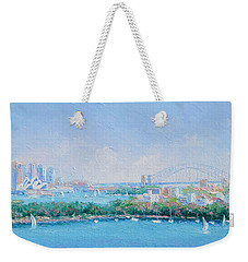 Sydney Harbour Bridge - Sydney Opera House - Sydney Harbour Weekender Tote Bag by Jan Matson
