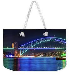 Sydney Harbour Green And Blue By Kaye Menner Weekender Tote Bag