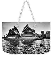 Sydney Opera House-black And White Weekender Tote Bag