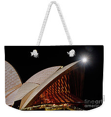 Weekender Tote Bag featuring the photograph Sydney Opera House Close View By Kaye Menner by Kaye Menner